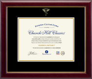 Embossed Chiropractic Certificate Frame in Gallery