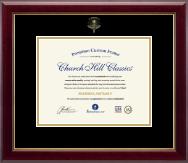 Embossed Optometry Certificate Frame in Gallery