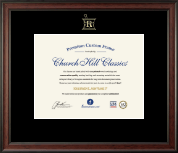 Embossed Pharmacy Certificate Frame in Studio
