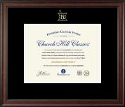 Embossed Pharmacy Certificate Frame in Studio