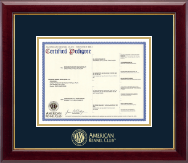 Gold Embossed Pedigree Frame in Gallery