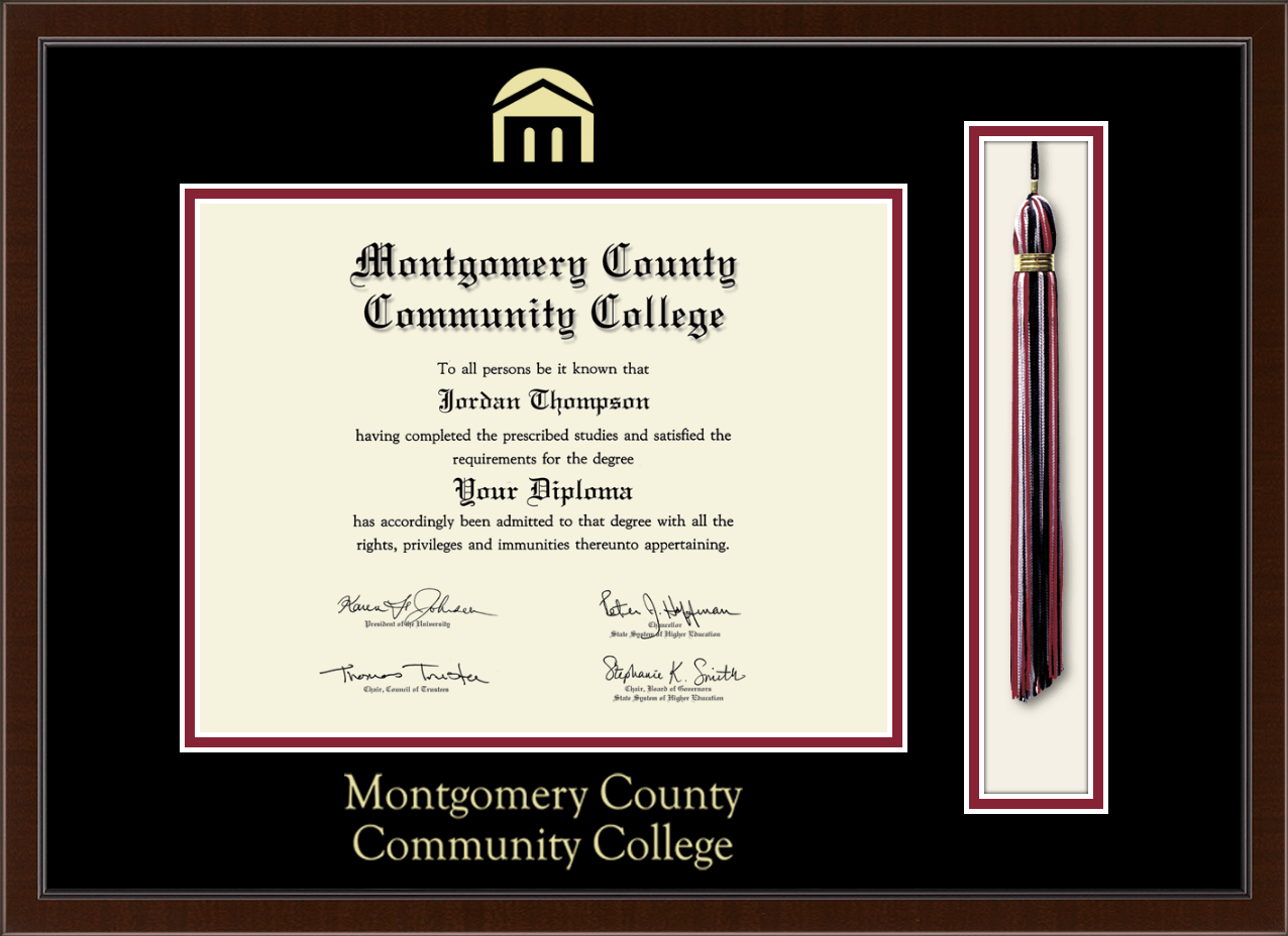 Montgomery County Community College Tassel Edition Diploma Frame In Delta Item 316202