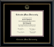 Colorado Mesa University Diploma Frames Church Hill Classics