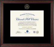 Embossed Academic Certificate Frame in Studio