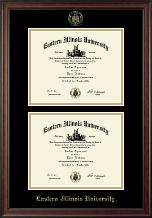 Double Diploma Frame in Studio