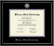 Silver Engraved Medallion Diploma Frame in Onexa Silver