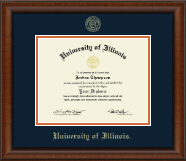 Gold Embossed Diploma Frame in Austin