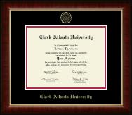 Clark Atlanta University Gold Embossed Diploma Frame in Murano