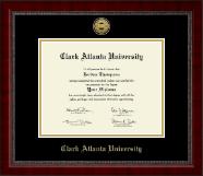 Clark Atlanta University Gold Engraved Medallion Diploma Frame in Sutton