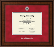 Presidential Silver Engrwaved Diploma Frame in Madison