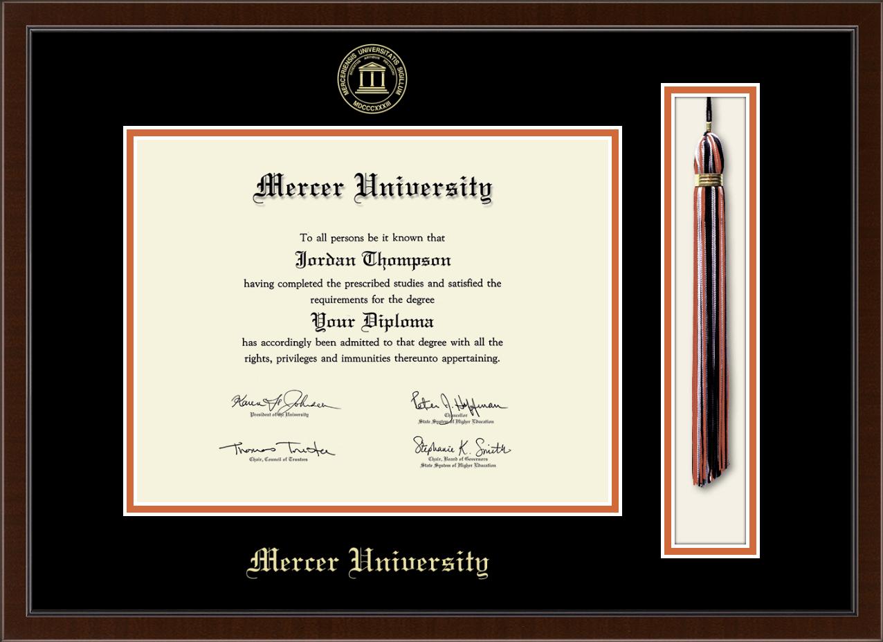 Mercer University Tassel Edition Diploma Frame In Delta Item 320586 From Mercer University Bookstore Macon Campus