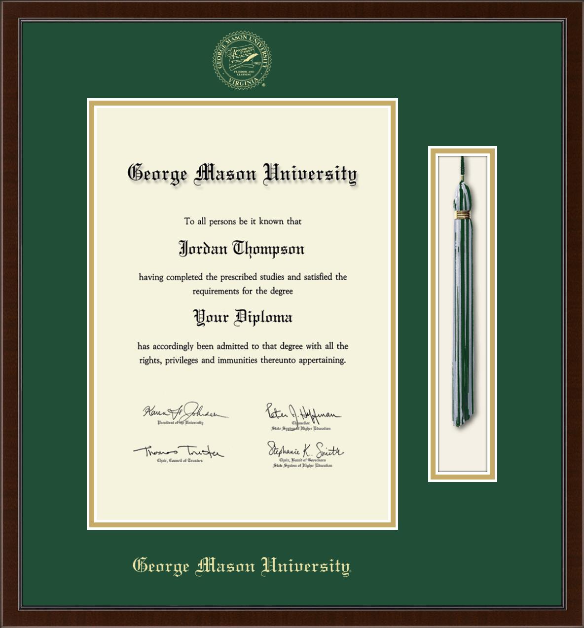 George Mason University Tassel Edition Diploma Frame In Delta Item 321583 From George Mason University Bookstore