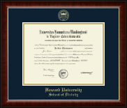 Gold Embossed School of Divinity Diploma Frame in Murano
