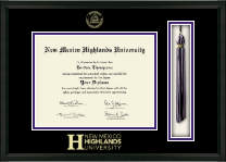 New Mexico Highlands University Tassel Edition Diploma Frame in Omega
