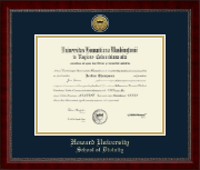 Gold Engraved Medallion School of Divinity Diploma Frame in Sutton