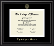 Gold Embossed Diploma Frame in Midnight