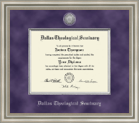 Presidential Silver Engraved Diploma Frame in Versailles Silver