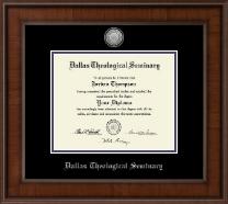 Silver Engraved Medallion Diploma Frame in Madison