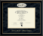 Campus Cameo Diploma Frame in Onyx Gold