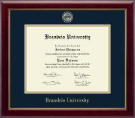 Brandeis University Masterpiece Medallion Diploma Frame in Gallery