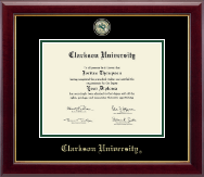 Clarkson University Masterpiece Medallion Diploma Frame in Gallery