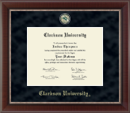 Clarkson University Regal Edition Diploma Frame in Chateau