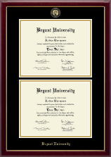 Masterpiece Medallion Double Diploma Frame in Gallery