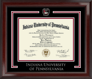 Indiana University of Pennsylvania Spirit Medallion Diploma Frame in Encore