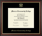 Gold Embossed Diploma Frame in Studio Gold