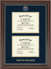 Masterpiece Medallion Double Diploma Frame in Chateau