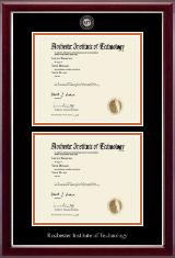 Masterpiece Medallion Double Diploma Frame in Kensington Silver