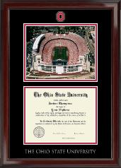 Campus Scene Spirit Medallion Diploma Frame in Encore