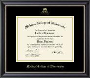 Gold Embossed Diploma Frame in Noir