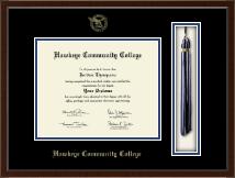 """Hawkeye Community College 8""""x10""""- Tassel Edition Diploma Frame in Delta"""