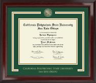 California Polytechnic State University San Luis Obispo Showcase Edition Diploma Frame in Encore
