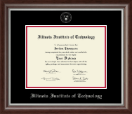 Illinois Institute of Technology Silver Embossed Diploma Frame in Devonshire