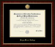 Bryn Mawr College 23K Medallion Diploma Frame in Murano