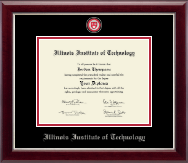 Illinois Institute of Technology Masterpiece Medallion Diploma Frame in Gallery Silver