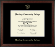 "8.5""x11""- Gold Embossed Diploma Frame in Studio"
