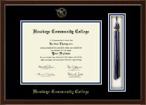 """Hawkeye Community College 8.5""""x11""""- Tassel Edition Diploma Frame in Delta"""
