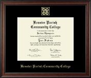 Bossier Parish Community College Gold Embossed Diploma Frame in Studio