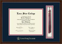 Lone Star College Tassel Edition Diploma Frame in Delta