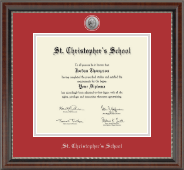 Silver Engraved Medallion Diploma Frame in Chateau
