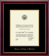 American College of Dentist Gold Embossed Diploma Frame in Gallery