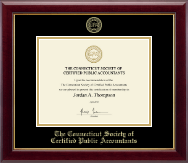 Connecticut Society of Certified Public Accountants Gold Embossed Certificate Frame in Gallery