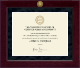 Connecticut Society of Certified Public Accountants Millennium Gold Engraved Certificate Frame in Cordova