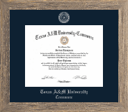 Silver Embossed Diploma Frame in Barnwood Gray
