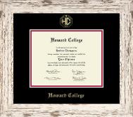 Gold Embossed Diploma Frame in Barnwood White