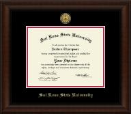 Gold Engraved Medallion Diploma Frame in Lenox