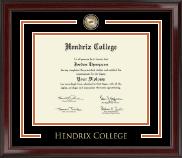 Hendrix College Showcase Edition Diploma Frame in Encore